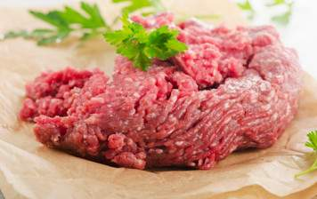 Freshly ground Charolais beef