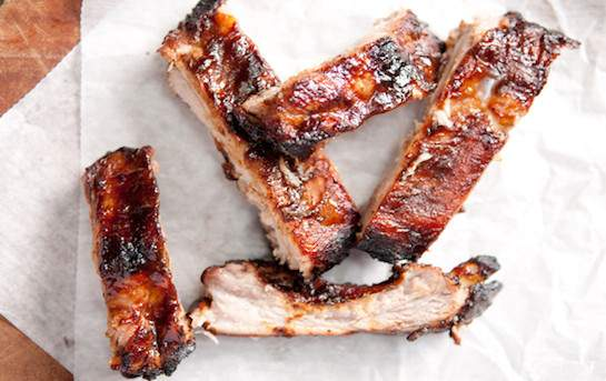 Pork ribs with BBQ marinade