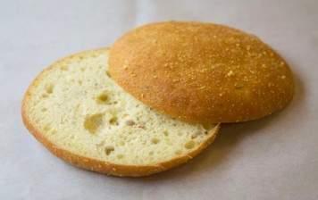 Home-made cornbread bun...