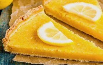 Citrus curd tart