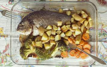 Oven baked Gilt-head Bream...