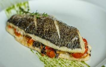 Artic char fillet with...