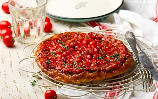 Tatin aux tomates cerises