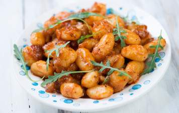 Fresh gnocchi with...