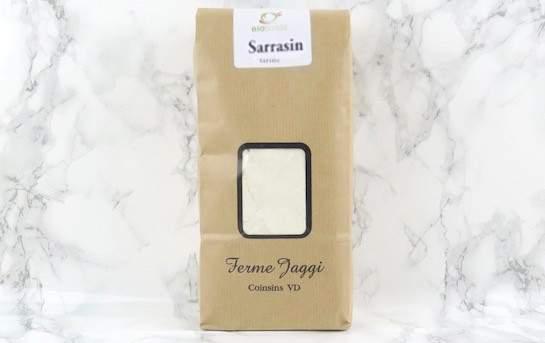 Farine de Sarrasin bio - meule de pierre Jaggiferme.