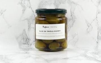 Organic giant green olives Agnoni
