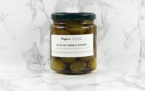 Organic giant green olives Agnoni