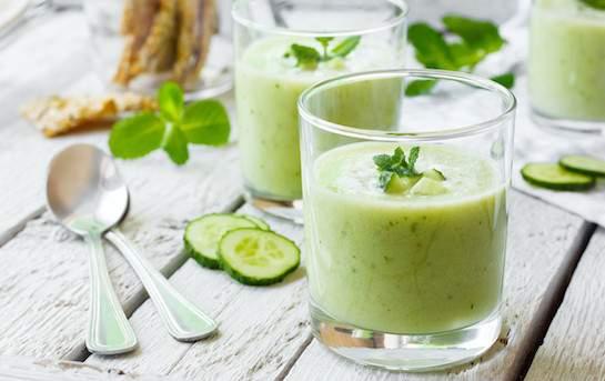 Recette - Soupe froide de concombres GRTA