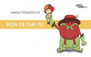 Bon cadeau MagicTomato.ch 75.-