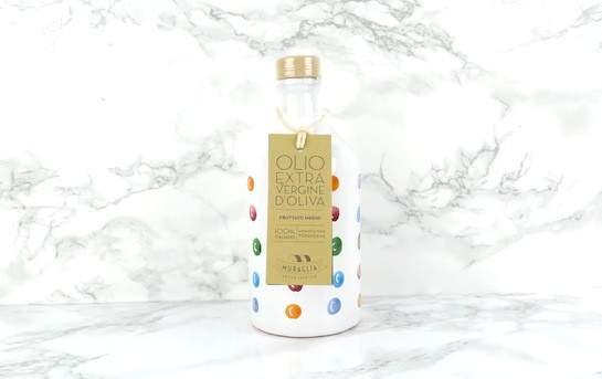 Flacons en terre-cuite peinte à main arc-en-ciel. Huile D'olive Extra Vierge Frantoio Muraglia f