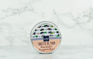 Emietté de thon - olive, basilic et pignons de pin