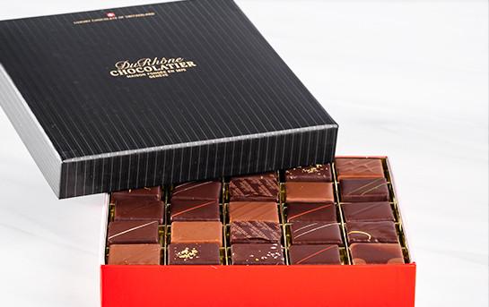 Assortiment de chocolat de la Chocolaterie du Rhône - 25 pièces