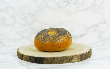 Thawed Poppy seed Bagel