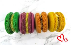 7 macarons sucrés St-Valentin