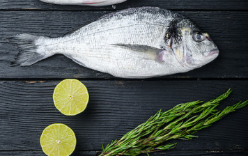 Whole bream (scaled and...
