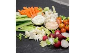 Petit Plateau (2-3pers.) légumes-dip & sauces