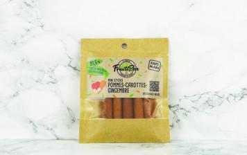 Mini Sticks aux Pommes, Carottes et Gingembre