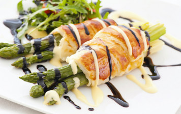 Asparagus pastries of...