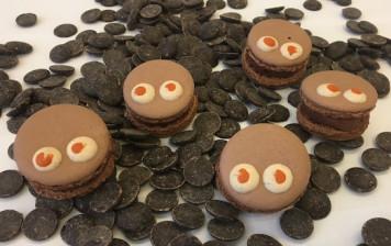 10 macarons chocolat faits...