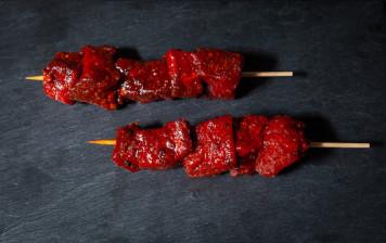 2 Beef skewers - BBQ marinade