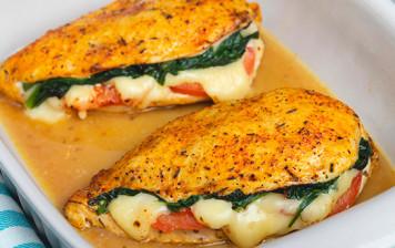 Filets de poulet farcis à la mozzarella