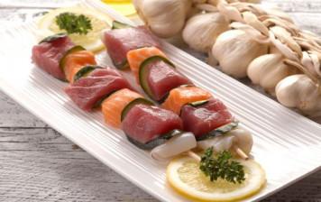 100% fish skewer
