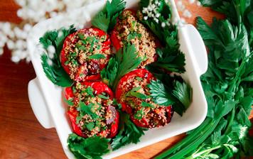 Poivrons farcis au quinoa